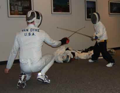 fencing with swords